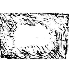 handdrawn grunge dry brush frame modern grunge vector image