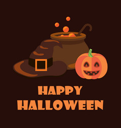 happy halloween poster on vector image