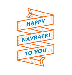 Happy navratri to you greeting emblem vector