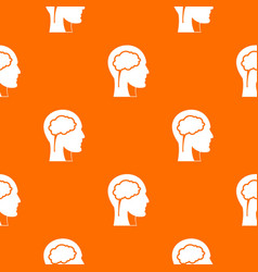 head with brain pattern seamless vector image