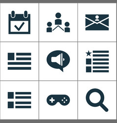 Internet icons set with promote form search and vector