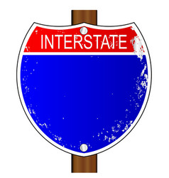 Interstate sign vector