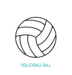 leather volleyball ball outline icon vector image