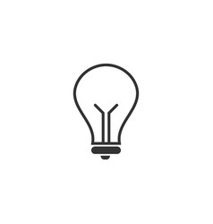 lightbulb icon design template vector image