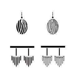 Luxurious candelabras icons vector