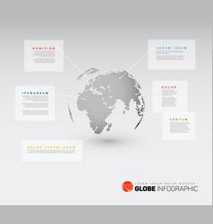 Modern world map globe infographic vector