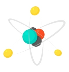 Molecule icon cartoon style vector image