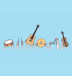 musical instruments and creative arts concept vector image