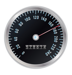 odometer vector image