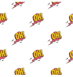 Oh comic text speech bubble pattern seamless vector