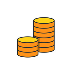pile coins icon vector image