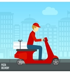 Pizza delivery icon vector