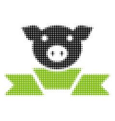 Pork award ribbon halftone icon vector