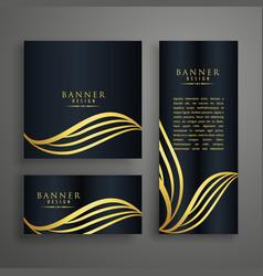 premium invitation card design concept with vector image
