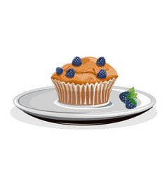 realistic cupcake vector image