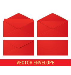 realistic red envelope mockups vector image
