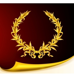 Rich golden wreath vector image