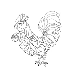 Rooster symbol for Chinese calendar Thin line vector