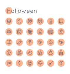Round Halloween Icons vector image