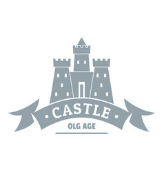Royal castle logo simple gray style vector