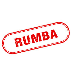 Rumba stamp rounded grunge textured sign label vector