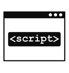 script window icon simple style vector image