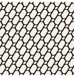 Seamless Black and White Diagonal Line Grid vector image