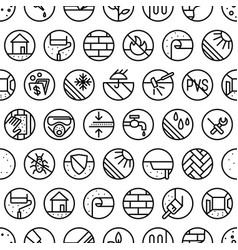 Seamless pattern for hardware store vector