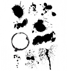 set of ink blots vector image