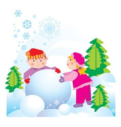 snow friends vector image