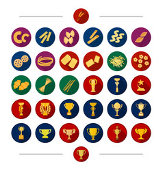 Sport attribute bowl and other web icon vector