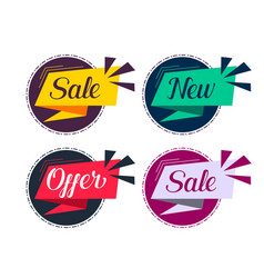 Stylish sale and offers labels set vector