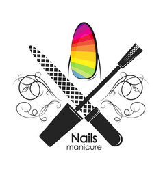 symbol for manicure with a pattern vector image