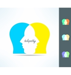 Telepathy people idea Telepath person head icon vector image