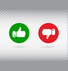 Thumbs up and thumbs down symbol isolated on vector