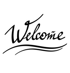 welcome hand drawn banner vector image
