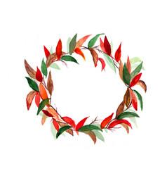 Wreath autumn vector
