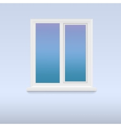 Closed white plastic window vector image vector image