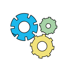 color gear industry engineering process vector image vector image