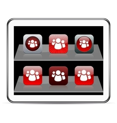 Forum red app icons vector image vector image