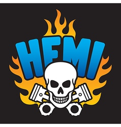 Hemi Skull and Pistons vector image vector image