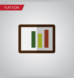 isolated column chart flat icon diagram vector image vector image
