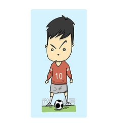 man play football vector image