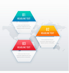 modern three steps infograph template design for vector image vector image