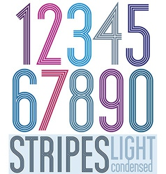 Poster retro condensed colorful numbers with vector image vector image