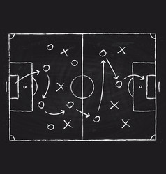 soccer game tactical scheme with football players vector image vector image