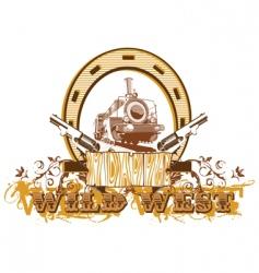 wild west vignette ii vector image vector image