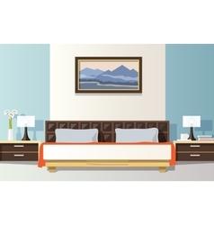 Bedroom flat vector