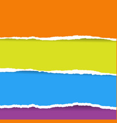 color torn paper vector image