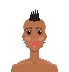Mohawk hairstyle African-American girl vector image vector image